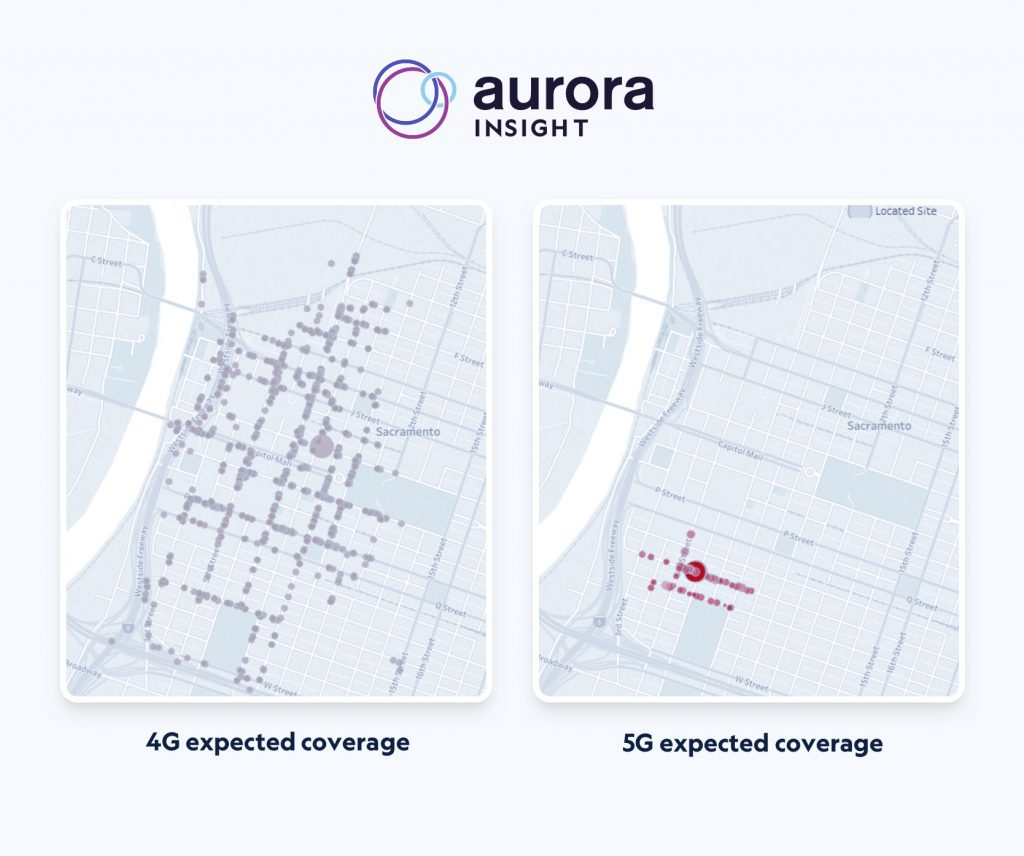 4G and 5G expected coverage